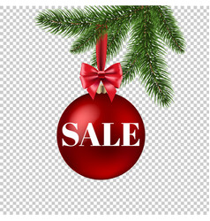 xmas sale poster transparent background vector image