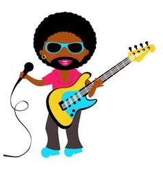 African american rockstar vector image