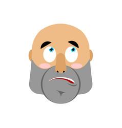 brutal man surprising emoji men face astonished vector image
