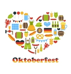 Heart made in Oktoberfest Colorful Symbols vector image vector image