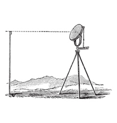 Heliograph vintage engraving vector image