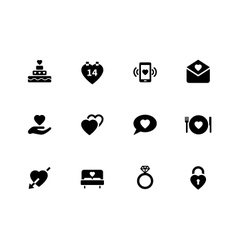 Love icons on white background vector image