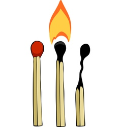matches vector image vector image