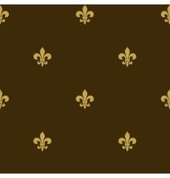 seamless fleur de lis background vector image vector image