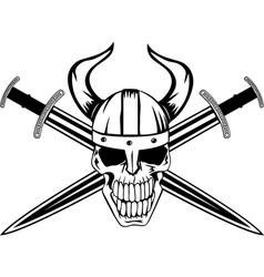 Skull and sword vector