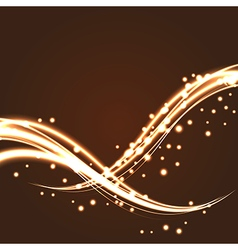 Bokeh light glitter wave lines with flying vector