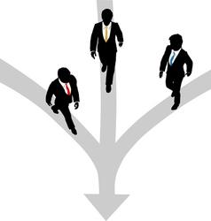Business men walk vector image vector image