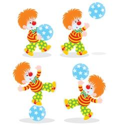 Circus clowns vector image