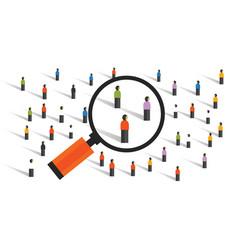 crowd behaviors measuring social sampling vector image