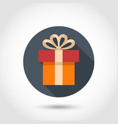 Gift box flat icon vector image