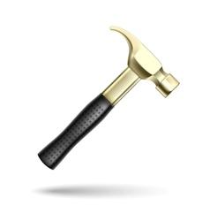 Golden Hammer vector image