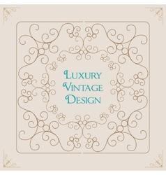 Vintage ornament border frame decoration vector image