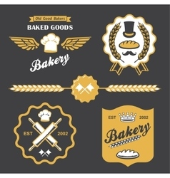 bakery bread vintage retro badges labels logo vector image vector image