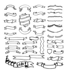 banner drawing collection vector image