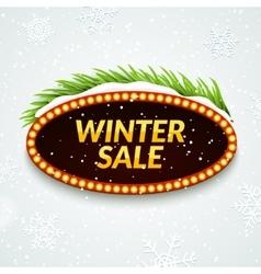 Big sale winter sale sign design template Xmas vector image vector image