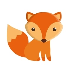 cute fox isolated icon vector image vector image