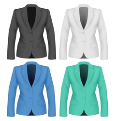 Formal work wear Ladies suit jacket vector image vector image