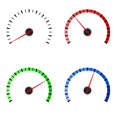 gauge set of colored universal measuring scales vector image vector image