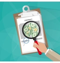Hand checking contract vector image