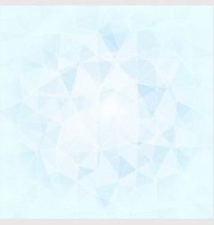 abstract poligonal background in blue and white vector image vector image