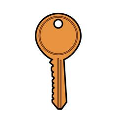 key door isolated vector image vector image