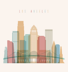 los angeles state california skyline silhouette vector image vector image