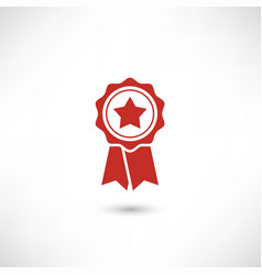 red badge star vector image vector image
