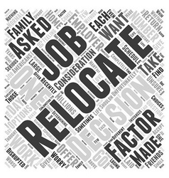 Should You Relocate If Asked By Your Employer Word vector image vector image
