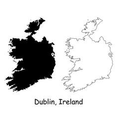 1088 dublin ireland vector image