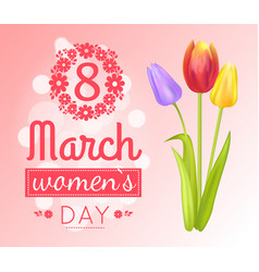 8 march womens day banner vector image