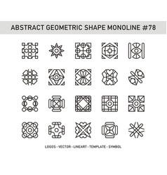 Abstract geometric shape monoline 78 vector