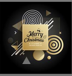 Abstract meryy christmas gold geometric pattern vector