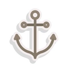 Anchor nautical icon vector
