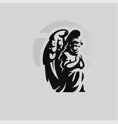Angel child with wings vector