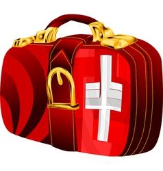 Bag with switzerland vector