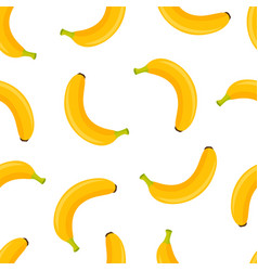 banana seamless pattern isolated on white vector image