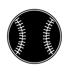 baseball ball isolated icon vector image