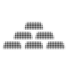 Black dotted treasure bricks icon vector
