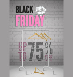 black friday clothes sale realistic poster vector image