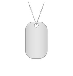 blank metal tags hanging on a chain military dog vector image