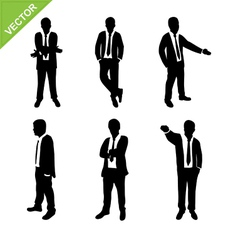 Business man silhouettes vector image