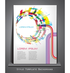 business style abstract background vector image