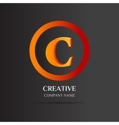 C Letter logo abstract design vector image