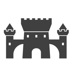 castle black icon medieval building and vector image
