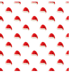 christmas red hat with pompom of santa claus vector image vector image