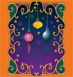 Christmas window magic vector image