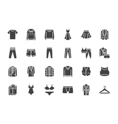 Clothes fashion silhouette icons vector