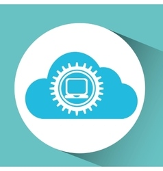 cloud laptop icon vector image