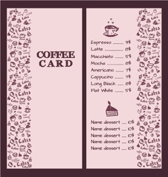 Coffee menu hand 2 vector