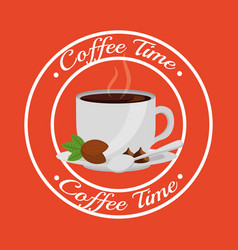 Coffee time related vector